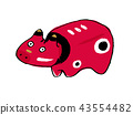akabeko, red cow toy, handicrafts 43554482