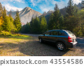 SUV on countryside road in High Tatra mountains 43554586