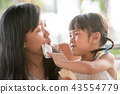 Child wipe moms mouth 43554779