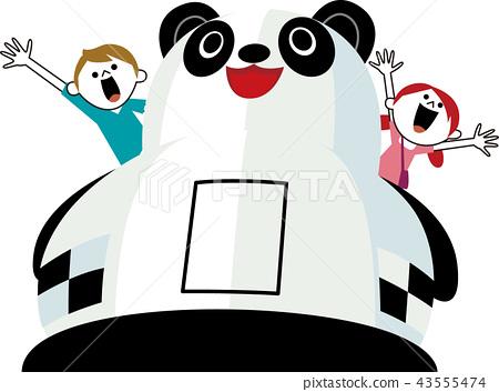 panda, pandas, play equipment 43555474