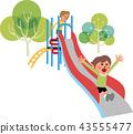 公園 滑梯 孩子 43555477