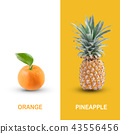 Creative layout made of orange and pineapple. 43556456