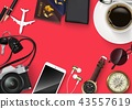Top view on travel and vacations concept 43557619