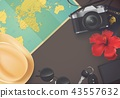 Top view on travel and tourism concept template 43557632