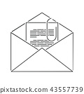 mail, envelope, letter 43557739
