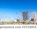 公寓/建築的大型建築工地 43558005