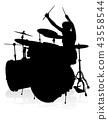 Musician Drummer Silhouette 43558544