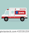 Ambulance and emergency text icon 43559159