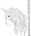 Simple unicorn 43559733