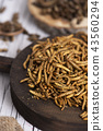 edible fried worms and crickets 43560294