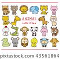 動物 一組 手寫風格 43561864