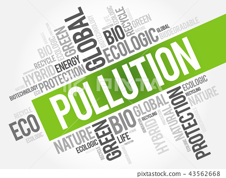 Pollution word cloud 43562668