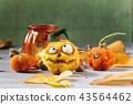 Halloween needle felted pumpkin 43564462