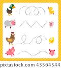 worksheet vector design for kid 43564544