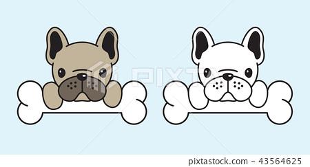 dog vector french bulldog icon cartoon character 43564625