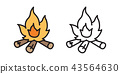 Fire Wood branch vector firewood logo icon cartoon 43564630