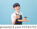 Cafe coffee staff clerk 43564792