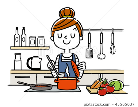 일러스트 소재 : 주부 요리 43565037