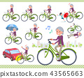 flat type Purple clothes grandmother_city cycle 43565663
