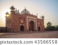 Mosque & Mihman Khana of taj mahal in agra, india 43566558
