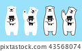 bear vector polar bear character cartoon icon 43568074