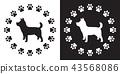 dog logo icon 43568086