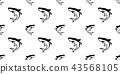鲨鱼 无缝的 样式 43568105