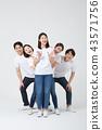 친구,동료,여자,한국인 43571756