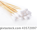 Cotton sticks isolated on white background 43572097