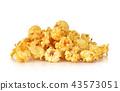 caramel popcorn on white background 43573051