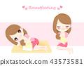 woman with breast feeding 43573581