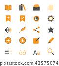 E-book reader flat icons 43575074