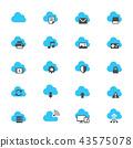 Cloud computing flat icons 43575078