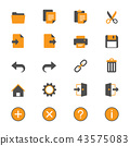 Application toolbar flat icons 43575083