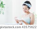 洗臉清潔美容女人護膚美容 43575622