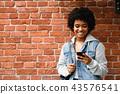 hipster, girl, smartphone 43576541
