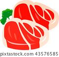 肉 肉的 牛排 43576585