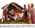 Christmas nativity scene with Holy Family  43576931