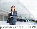 airport, female business person, business 43578398