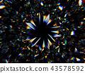 Gemstone structure extreme closeup kaleidoscope 43578592