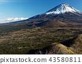富士山 寒冬 冬天 43580811