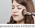 女人 女性 脸部 43581630