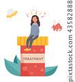 Schizophrenia treatment. Girl having hallucination 43582888