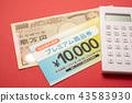 food voucher, calculator, 000 43583930