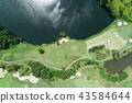 aerial view drone shot of beautiful golf course 43584644