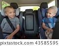 car, boy, child 43585595