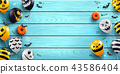 Halloween background with Halloween Ghost Balloons 43586404