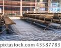 Waiting lobby at Haneda airport, Tokyo, Japan 43587783