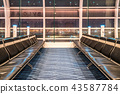 Waiting lobby at Haneda airport, Tokyo, Japan 43587784
