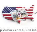 News of USA, press and  journalism concept 43588346